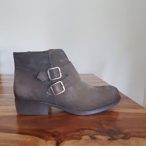 Army green eric michael booties
